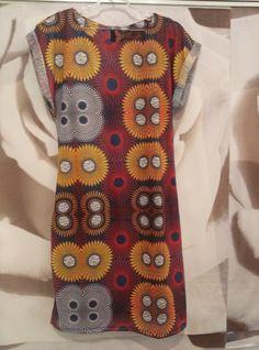 vestido estilo tubinho com estampa étnica africana em malha flame.