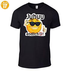 T-Shirt endlich-18 / Motivshirt / Funshirt / 6 Farben / S-XXL (Schwarz L) (*Partner-Link) Partner, Mens Tops, Link, Fashion, Young Men, Colors, Birthday, Black, Moda