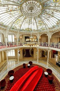 HOTEL HERMITAGE Monte-Carlo, Monaco: Charm and refined elegance characterize this Belle Epoque historic monument recently revamped. Hermitage Monaco, Real Life Princesses, Great Vacations, Banquette, Hotel Lobby, Winter Garden, Monte Carlo, Lodges, Architecture Design