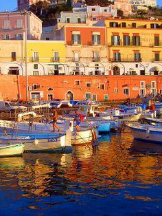 Colorful Ponza island