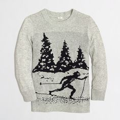Buy women's clothing from J.Crew Factory including women's dresses, blazers and boots, all on sale. Find great prices on skirts, chinos, and sweaters. Ski Sweater, Grey Sweater, Discount Mens Clothing, Skirts With Boots, Cardigans For Women, Wool Blend, J Crew, Winter Fashion, Clothes For Women
