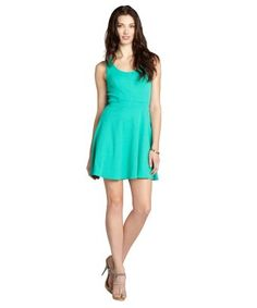 Ali Ro : peridot pique knit sleeveless dress