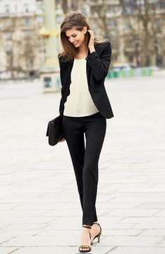 Spring Time Chic - The two-piece suit, like a little black dress, is one of those timeless essentials in any woman's wardrobe.