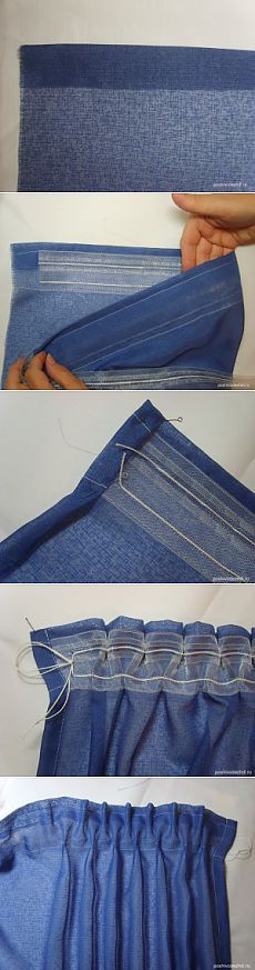 Kako šivati zavjese trake