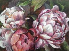 First Peonies  2017    ...Kim Black   ...SA Laurence Amelie, Black Peony, South African Artists, Black Artists, Pictures To Paint, Artist Art, Flower Art, Peonies, Florals
