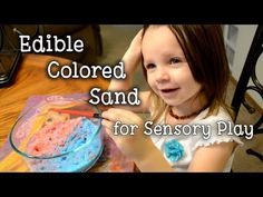 Edible Colored Sand for Sensory Play    Preschool Homeschool    (Vlogust Day 28) - YouTube