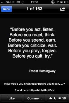 Before you teach, learn