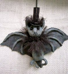 Spun Cotton Ornament -Little Gentleman Bat