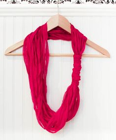 Easy DIY Loop Scarf made with beautiful LB Collection Silk Chiffon Ribbon! {No Sewing, Knitting, or Crocheting Required!} | www.petalstopicots.com | #DIY #crafts #scarf