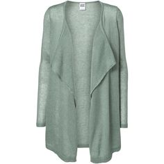 Vero Moda Long Sleeved Knitted Cardigan ($25) ❤ liked on Polyvore featuring tops, cardigans, outerwear, green, jackets, chinois green, green top, green cardigan, loose cardigan and long sleeve cardigan