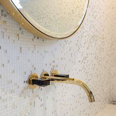 Venezia Wall Basin/Bath Mixer by Fantini Interior Design Work, Bathroom Interior Design, Tree Lined Driveway, Bath Mixer, 22 Carat Gold, Barndominium, Clever Design, Hand Blown Glass, Wall