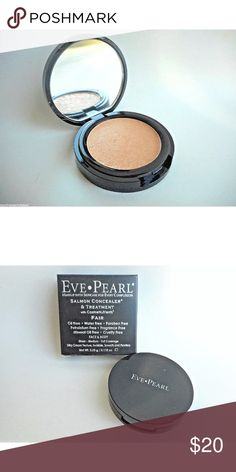 Eve Pearl Salmon Concealer & Treatment in Fair New and unopened Eve Pearl Salmon Concealer & Treatment in Fair. Full size 0.115oz/3.25g. Contains CosmeNutrients to reduce the appearance of dark under eye circles, fine lines, crow's feet and puffiness. Oil-free, water-free, paraben-free, petrolatum-free, fragrance-free, mineral-oil free and cruelty-free. Silky cream texture, invisible, smooth and flawless. Makeup Concealer