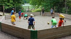 Are you gaga to play a GaGa Ball Game? This post includes GaGa Ball Pit, Rules, Tips and Variations. Backyard Games, Outdoor Games, Outdoor Play, Backyard Ideas, Eagle Scout Project Ideas, Outdoor Learning Spaces, Youth Games, Youth Activities, Outside Games