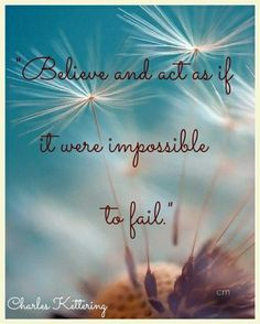 """""""Believe and act as if it were impossible to fail."""" Charles Kettering #brainyquote #inspirationalwords #act #believe #believer #impossibilities #fail #impossible #failure #were #inventor #charleskettering #inspirationalquotes #quoteoftheday #quotes #motivational #motivation #encouragement #life #image #flowers #dandelion #macro #photo"""