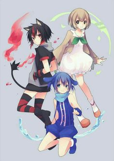 Pokemon Litten, Rowlet, Popplio
