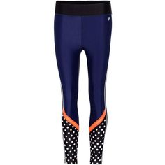 P.E Nation Down to the Wire Leggings ($165) ❤ liked on Polyvore featuring pants, leggings, blue, blue leggings, blue pants, legging pants and blue trousers