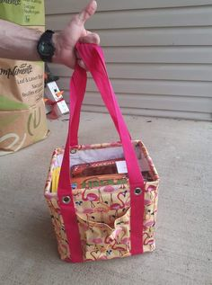 Springs Flamingo small utility tote fits all the games you will need for game night to a friend's house or camping.