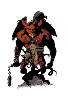 Original sketch Mike Mignola did of Hellboy from back in 1991.