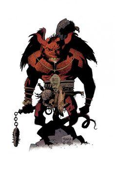 Original sketch Mike Mignola did of Hellboy from back in 1991.
