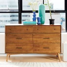 West Elm offers modern furniture and home decor featuring inspiring designs and colors. Create a stylish space with home accessories from West Elm. Decor, Mid Century Dresser, Large Furniture, 6 Drawer Dresser, Home Decor, Oversized Furniture, Mid Century Nightstand, Furniture, Shabby Chic Furniture
