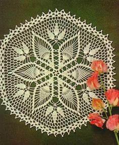 Pineapple on crochet napkin