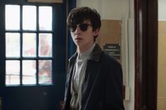 Asa Butterfield wearing Ray-Ban RB3016 Clubmaster sunglasses in The Space Between Us | SelectSpecs.com