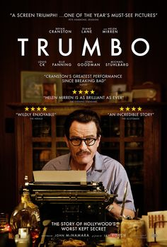 The successful career of screenwriter Dalton Trumbo (Bryan Cranston) comes to a crushing end when he and other Hollywood figures are blacklisted for their political beliefs. Movie To Watch List, Good Movies To Watch, Movie List, Great Movies, Bryan Cranston, Cinema Movies, Drama Movies, Film Movie, Breaking Bad