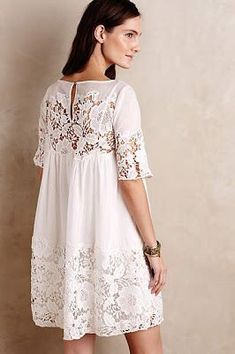 Anthropologie's October Arrivals: Dresses & Skirts – Topista - Kleidung 2020 Swing Dress, Dress Skirt, Lace Dress, White Dress, White Lace, Strapless Dress, Dress Outfits, Casual Dresses, Summer Dresses
