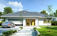 My House Plans, Modern House Plans, Bungalows, Roof Design, House Design, Philippine Houses, House Construction Plan, Three Bedroom House Plan, Modern Bungalow