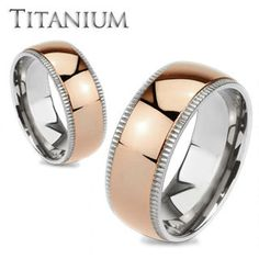 Timeless Rose - Highly Polished Rose Gold Ion-Plated Beveled Edges Comfort-Fit Titanium Wedding Ring #FallCollection2013 #BuyBlueSteel
