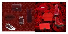 """""""Red moodboard"""" by olivia-kjellberg-persson on Polyvore featuring art"""