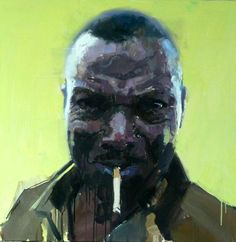 Man with cigarette 2011 by James Hart Dyke