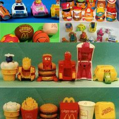 I had to try to collect all the Happy Meal toys growing up, but I never managed to get a complete set of anything. These stick out in my mind in particular.