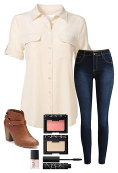 """""""So Tired RTD"""" by ittybittyrsunshine ❤ liked on Polyvore featuring Equipment, LC Lauren Conrad and NARS Cosmetics"""