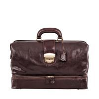 Maxwell Scott The Donnini Large Leather Doctor Bag Chocolate Brown