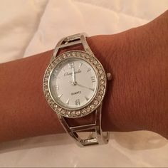 Fabulous rhinestone watch Stainless steel, water resistant. Accessories Watches