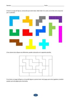 Crafts for preschools : Puzzle Coloring Pages Activities for Preschool Montessori Activities, Preschool Worksheets, Kindergarten Activities, Learning Activities, Preschool Activities, Cognitive Activities, Kids Education, Special Education, Visual Perception Activities