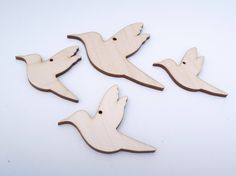 Wooden Bird Shape for Crafts - Laser Cut by AndedSupplies on Etsy