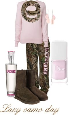 A fashion look from January 2013 featuring Jaeger sweaters, Realtree activewear pants and Dorothy Perkins. Browse and shop related looks. Country Girl Outfits, Country Girl Style, Country Fashion, Country Girls, My Style, Country Wear, Lucas Scott, Lazy Day Outfits, Camo Outfits