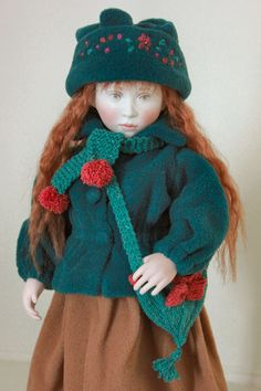 Fleur ( wearing Jessica's winter clothes) by Lynne & Michael Roche