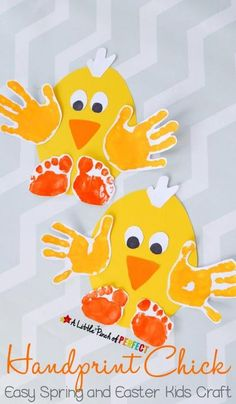 Fun Handprint Art Activities for Kids. Easy Spring and Easter Kids Craft. DIY craft and keepsake ideas. The Flying Couponer. kids 20 Fun Handprint Art Activities for Kids Easter Crafts For Toddlers, Art Activities For Kids, Daycare Crafts, Easter Crafts For Kids, Preschool Crafts, Art For Kids, Spring Toddler Crafts, Kids Fun, Children Crafts