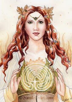 This is for you, Judy.  I've gone down through all your pins and I don't think you pinned this one so TAH DAH!  From me to you! :) (Art Labyrinth Goddess by ~ NicoleCadet)