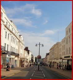 The Parade, Leamington Spa. Once named the most polluted street in Britain as a result of all the bus fumes.