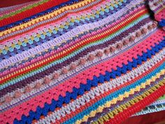 """""""Random Stitch Striped Blanket""""...no pattern, but some cute things here."""