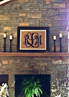 Painted Wood Monogram