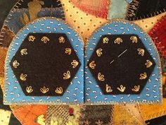 Wool Bee Needle Keep Hand stitched by Mary Thom Kit from Pretty Penny Precuts