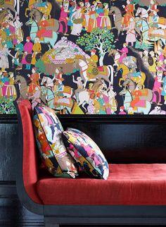 Asiatika: Manuel Canovas Tapete Dara von Colefax & Fowler #wohnzimmer #englisch #design