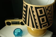 Check out 14 DIY Furniture Stenciling Projects | Aztec Inspired DIY Lamp Revamp by DIY Ready at http://diyready.com/14-diy-furniture-stenciling-projects/