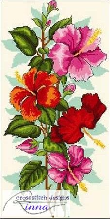 Hibiscus 1- Cross Stitch Pattern