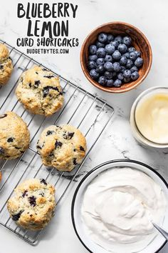 Fresh blueberries, tangy lemon curd, creamy homemade whipped cream, and fluffy biscuits make these Blueberry Lemon Curd Shortcakes a totally epic dessert! BudgetBytes.com #dessert #blueberry Delicious Cookie Recipes, Dessert Recipes, Yummy Food, Desserts, Cupcake Recipes, Homemade Whipped Cream, Homemade Vanilla, Cheap Meals, Easy Meals